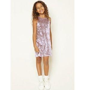 Forever 21 soft pink velvet dress